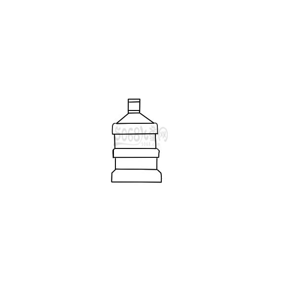 又简单又好看的桶装水简笔画原创教程步骤 5068儿童网