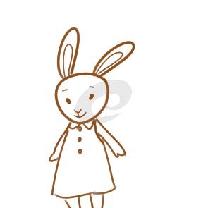 漂亮的兔子儿童简笔画要怎么画