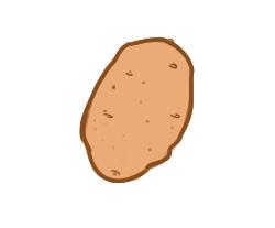 蔬菜之土豆简笔画要怎么画