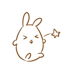 卡通兔子简笔画要怎么画
