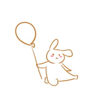 拿气球的兔子简笔画怎么画