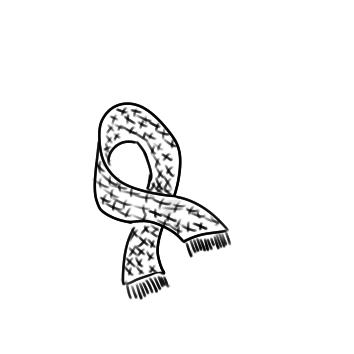 暖和的围巾简笔画要怎么画