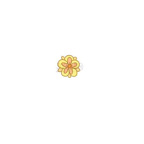 一朵漂亮的花要怎么画