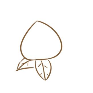 超简单的仙桃简笔画原创教程步骤