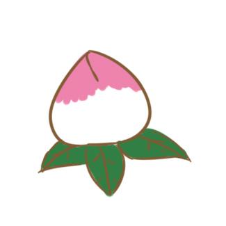 超簡單的仙桃簡筆畫原創教程步驟