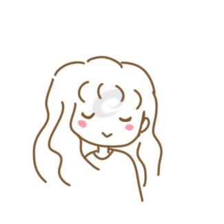 睡着的女生简笔画怎么画