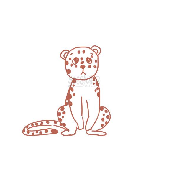 可爱的小豹子简笔画怎么画