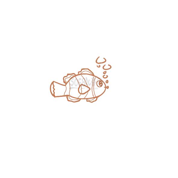 漂亮的小丑魚簡筆畫要怎么畫