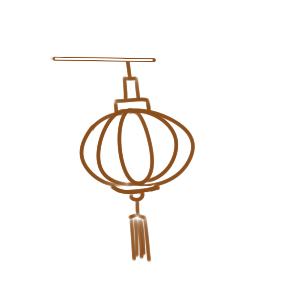 新年提燈籠簡筆畫手繪教程