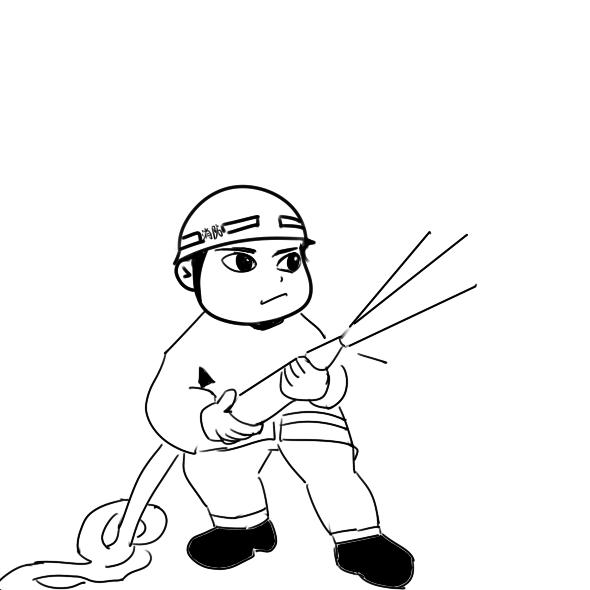 帅气的消防员简笔画要怎么画