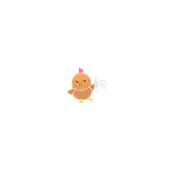 可爱的小鸡仔要怎么画