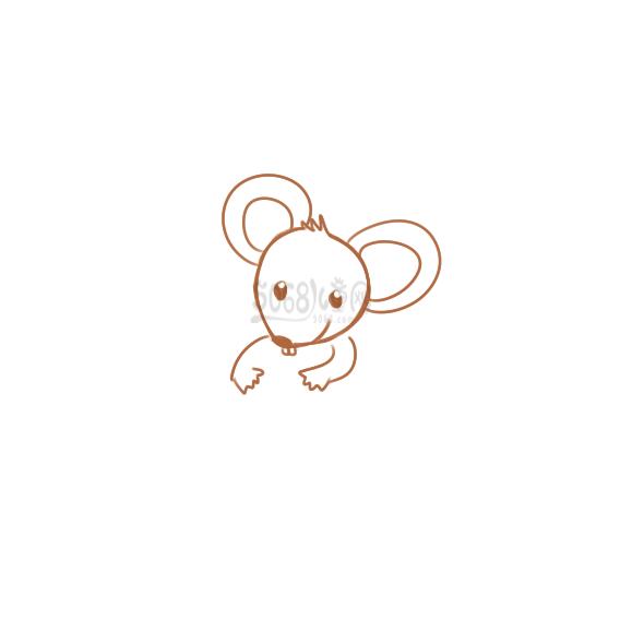 鼠年的小老鼠要怎么画