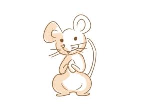 吃东西的小老鼠简笔画怎么画