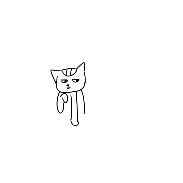 又简单又好看的小猫钓鱼简笔画原创教程步骤 5068儿童网