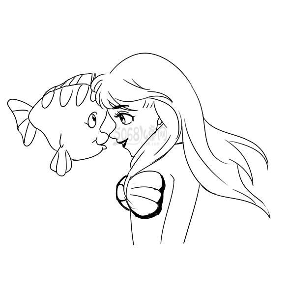 小美人鱼简笔画要怎么画