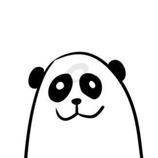 超簡單的熊貓頭簡筆畫原創教程步驟