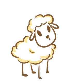超简单的小棉羊简笔画原创教程步骤