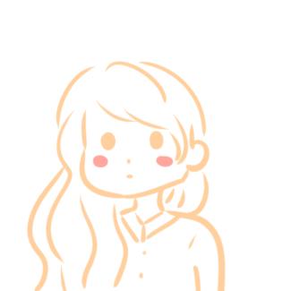 超简单的长发女生简笔画原创教程步骤