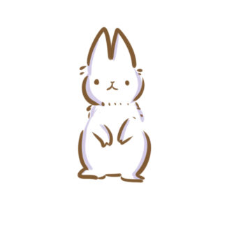 雪白的兔子簡筆畫怎么畫