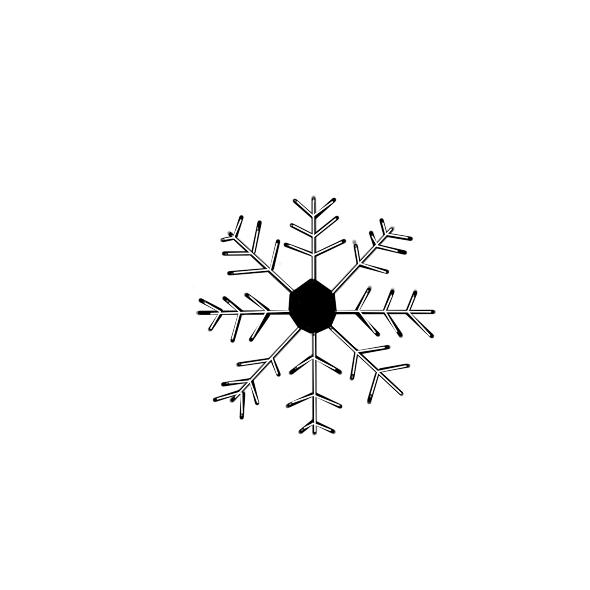 美麗的雪花簡筆畫怎么畫