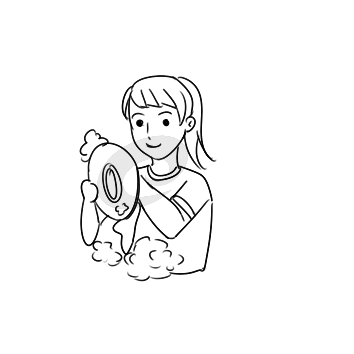 學雷鋒幫媽媽洗碗簡筆畫怎么畫