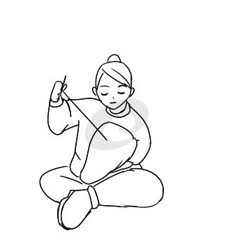 超簡單的學雷鋒縫衣服簡筆畫步驟圖