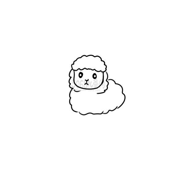 又简单又好看的羊简笔画原创教程步骤 5068儿童网