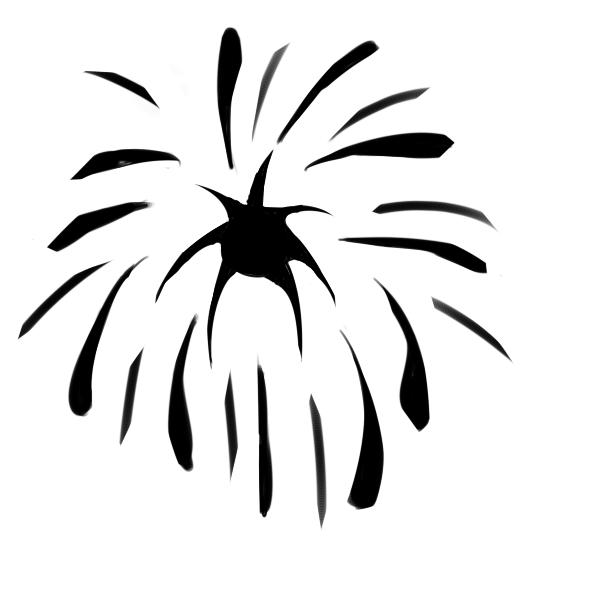 又簡單又好看的煙花簡筆畫怎么畫