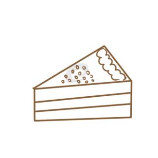 漂亮的蛋糕簡筆畫步驟圖