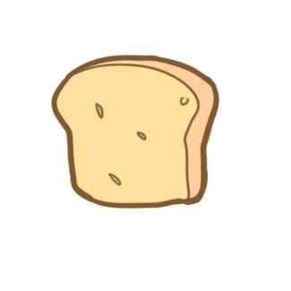 超简单的面包片简笔画原创教程步骤