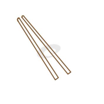 精美的筷子簡筆畫怎么畫