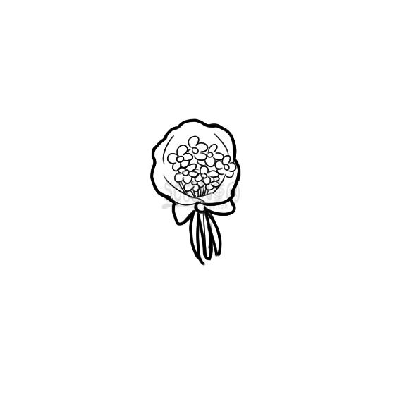 一束漂亮的花简笔画怎么画