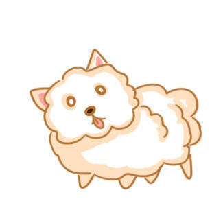 白色的狗簡筆畫怎么畫