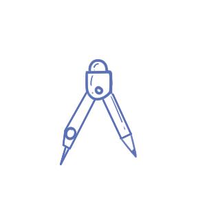 數學用具之圓規簡筆畫要怎么畫