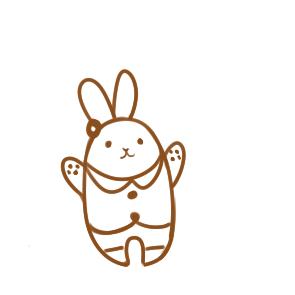 卡通的兔子简笔画教程