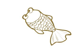 可爱的金鱼简笔画原创教程步骤
