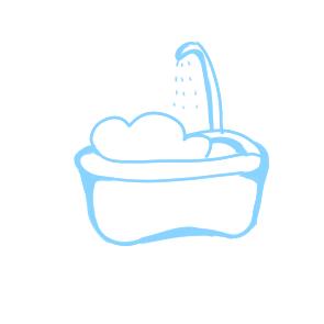 超簡單的浴盆簡筆畫原創教程步驟