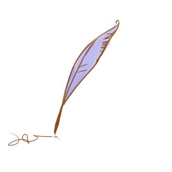 漂亮的羽毛筆簡筆畫要怎么畫