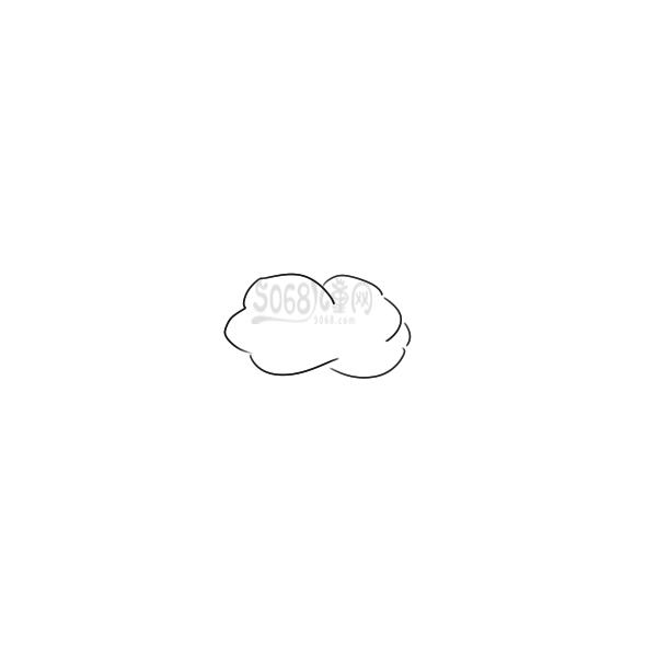 又简单又好看的正在下雨的云简笔画原创教程步骤 5068儿童网