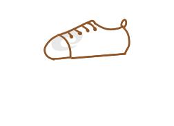粉红色的运动鞋的简笔画原创教程步骤 5068儿童网