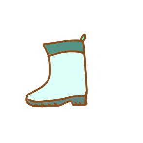 漂亮的雨鞋简笔画要怎么画
