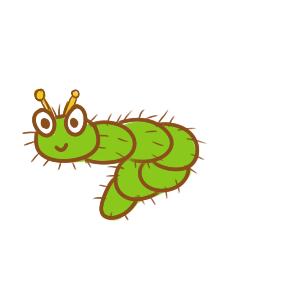 可愛的毛毛蟲簡筆畫要怎么畫