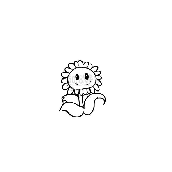 植物大戰僵尸的向日葵簡筆畫怎么畫