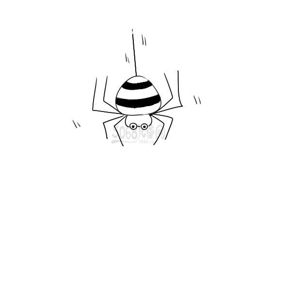 漂亮的蜘蛛小學生簡筆畫怎么畫