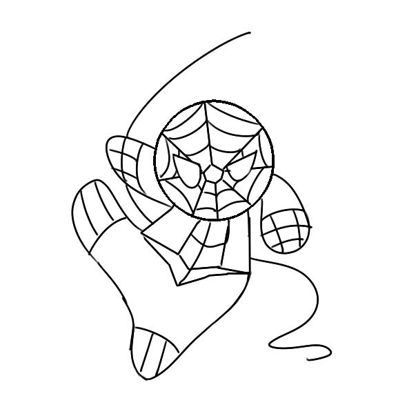 帅气的蜘蛛侠简笔画怎么画