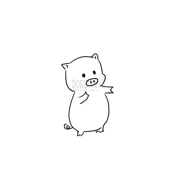 可爱的小猪简笔画要怎么画