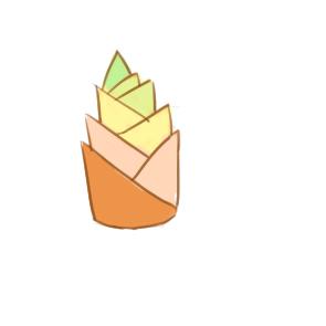 美味的竹筍簡筆畫要怎么畫