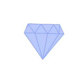 漂亮的钻石简笔画教程