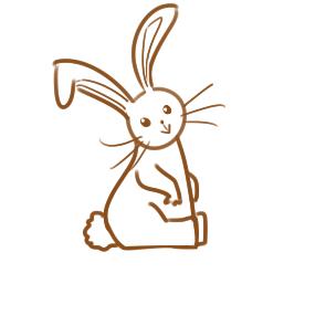可爱的毛绒兔简笔画怎么画
